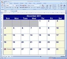 Excel Calendar